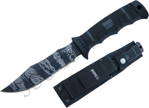 sog seal pup tiger stripe sog seal pup elite tiger stripe knife w sheath e37ts