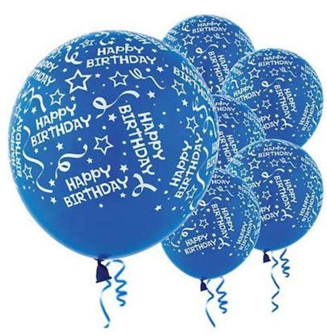 Balon Motif Happybirhtday designer balloons royal blue happy birthday confetti