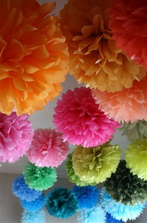 How To Make Tissue Paper Balls To Hang - best 25 hanging pom poms ideas that you will like on