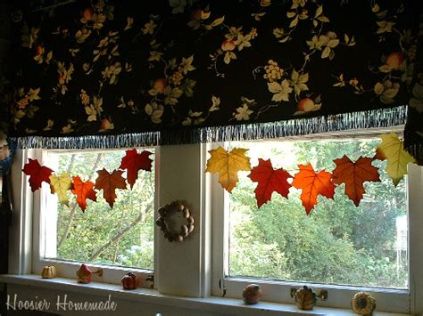 home made fall decorations decorating your kitchen for fall hoosier homemade