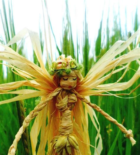Handcrafted Fairies - barley faerie handmade lammas corn dolly