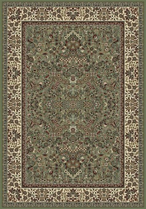 Ancient Rugs by Dynamic Ancient Garden 57078 4444 Green Ivory Area Rug