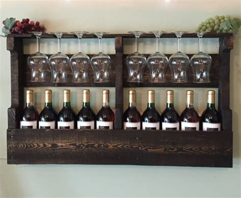 Wall Mount Wine Glass Rack by Wall Mounted Wine Rack Holder Wine Glass By Lalascollections
