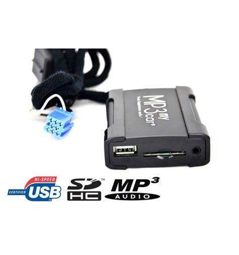 format audio pour autoradio boitier usb sd mp3 auxiliaire pour autoradios renault