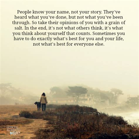 This Is Not Your Story lessons learned in your name not your