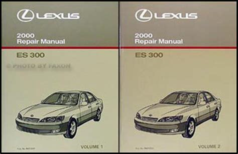 car repair manuals online free 2000 lexus es electronic toll collection 2000 lexus es 300 repair shop manual original 2 volume set