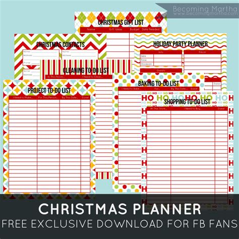 Printable Christmas Organiser | 6 best images of printable holiday organizer christmas