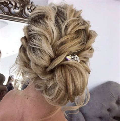 may just be perfect to braids updo wedding hairstyle inspiration