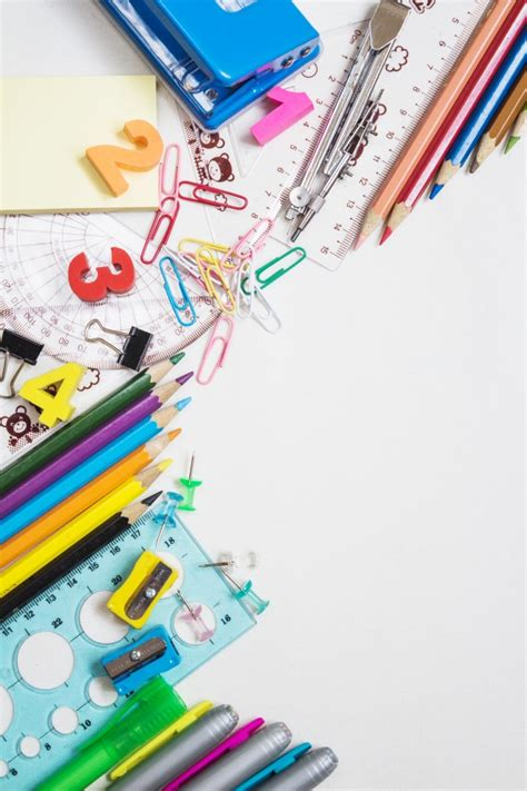 colorful office supplies colorful office supplies photo free download