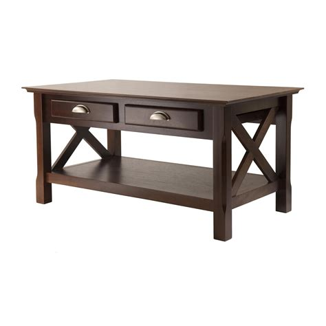 Espresso Finish Coffee Table Winsome Wood Xola Coffee Table Cappuccino Finish Kitchen Dining