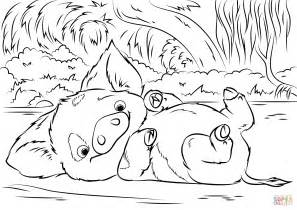 coloring pages moana pua pet pig from moana coloring page free printable coloring pages