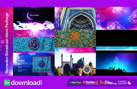 Ramadan Broadcast Ident Package Videohive Free Download Free After Effects Template Broadcast After Effects Template