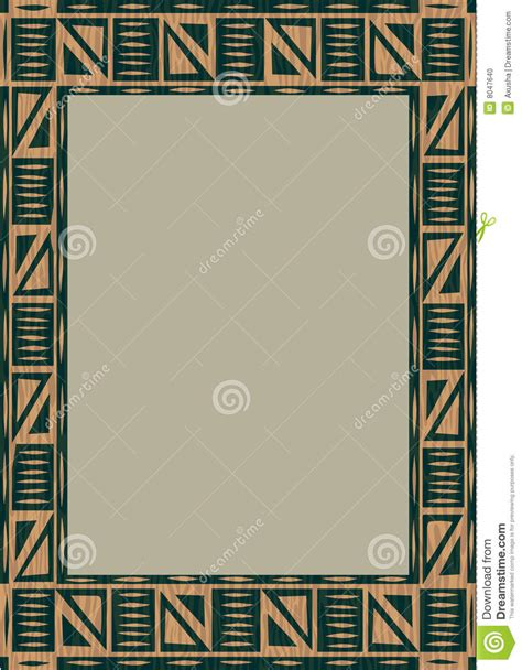 african pattern frame african wooden frame stock photo image 8047640