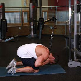 cable crunch exercise guides bodybuilding