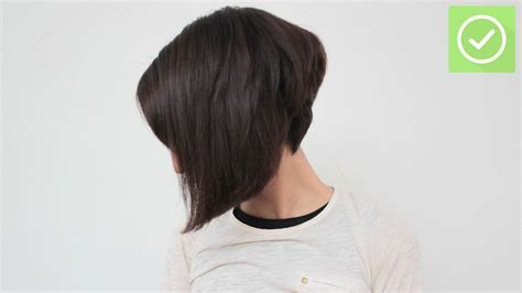 diy cutting a stacked haircut the best way to cut a bob wikihow