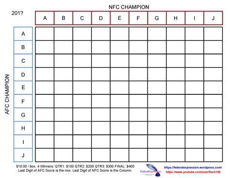superbowl block pool template federalexpression