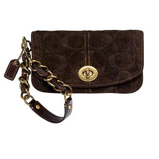 Coach Legacy Embossed Suede Purse by Coach Embossed Suede Wristlet Coach Legacy Embossed Suede
