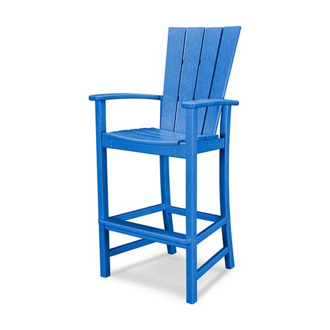 Adirondack Bar Chairs by Polywood 174 Ultra Durable Quattro Adirondack Bar Chair All