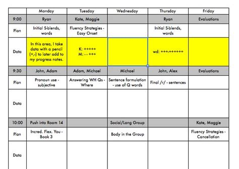 Week At A Glance Lesson Plan Template by Free See Your Week At A Glance Use This Template To Plan