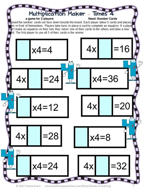 printable maths board games year 4 fun games 4 learning april 2013