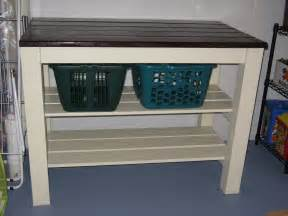 white laundry area table diy projects