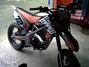 kawasaki klx 150 cc modifikasi logesagus