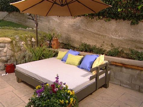 outside beds build an outdoor daybed hgtv