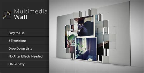 cinema 4d template videohive multimedia flipping wall