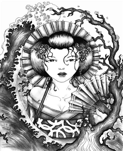 geisha tattoo design contest submission by