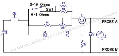 resistor tester circuit low resistance measuring meter electronic circuits