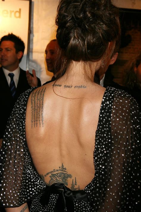 tattoo meaning angelina jolie angelina jolie tattoos 2011 kim kardashian
