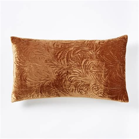 My Luxe Pillow - luxe embroidered pillow cover copper west elm