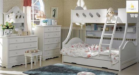 Tempat Tidur Anak Murah Bed Sorong Duco White Nakas Set Kamar Anak jual ranjang anak tingkat putih terbaru cloudy jepara