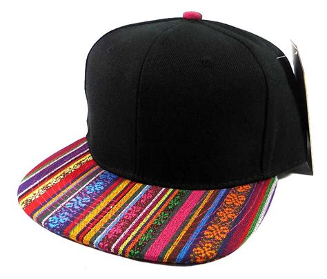 Exclusive Snapback Brim Pattern wholesale aztec snapback hat american pattern brim orange