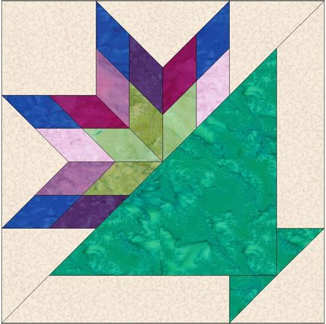 Tulip Quilt Pattern Block by Tulip Basket 6 Inch Template Block By Humburgcreation