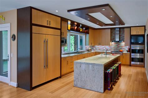Modern Kitchen Ceiling Light Plasterboard Suspended Ceiling Systems For The Kitchen