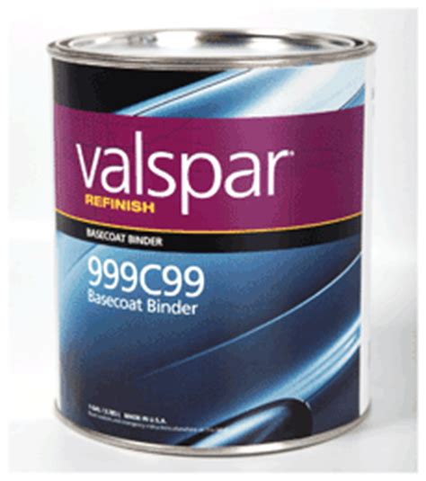 valspar refinish 999 series basecoat binder 999c99 valspar refinish