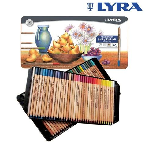 Lyra Rembrandt Aquarell 24 Ref2011240 lyra rembrandt polycolor colouring pencils gift tin of 24