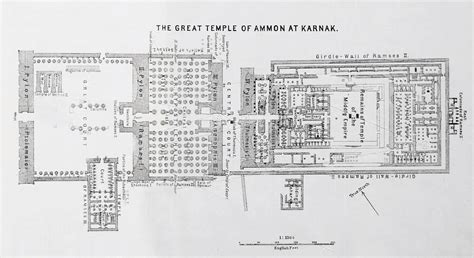 re layout temple of amun re and the hypostyle hall karnak