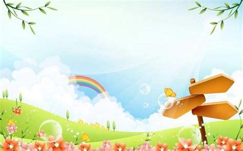 gambar kartun taman bunga gambar background pemandangan