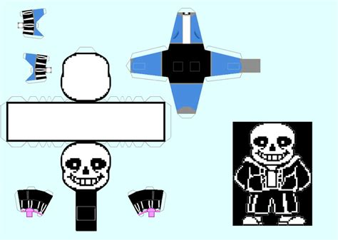 sans templates papercraft sans undertale by snickercole on deviantart