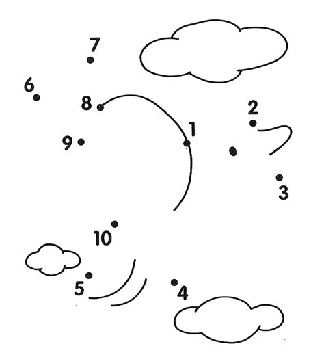 printable dot to dot 1 10 fish dot to worksheets kids under free preschool connect