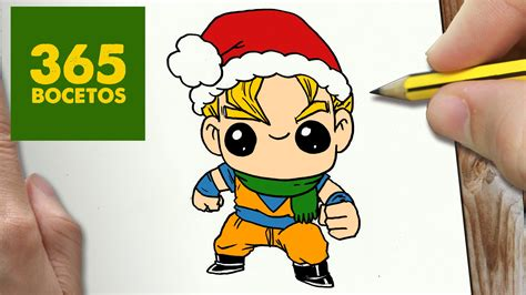 imagenes tan kawaii como dibujar a goku para navidad paso a paso dibujos