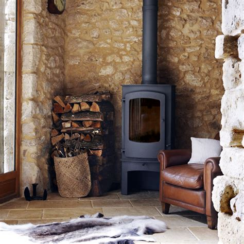 Living Rooms With Wood Burning Stoves Country Living Room Stove Living Room Design Ideal Home