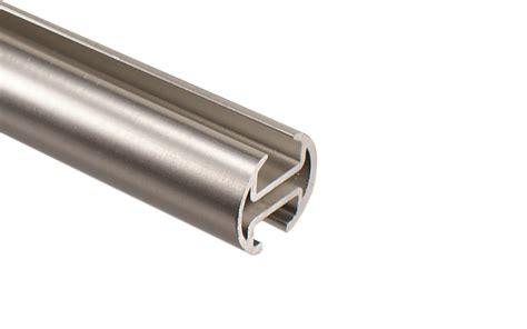 gardinenschiene zweilaufig alu 2 l 228 ufige innenlauf gardinenstange edelstahl optik 20 mm