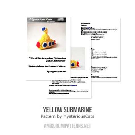 strumming pattern for yellow submarine yellow submarine amigurumi pattern amigurumipatterns net