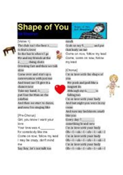 ed sheeran shape of you lyrics free mp3 download english worksheets ed sheeran shape of you lyrics