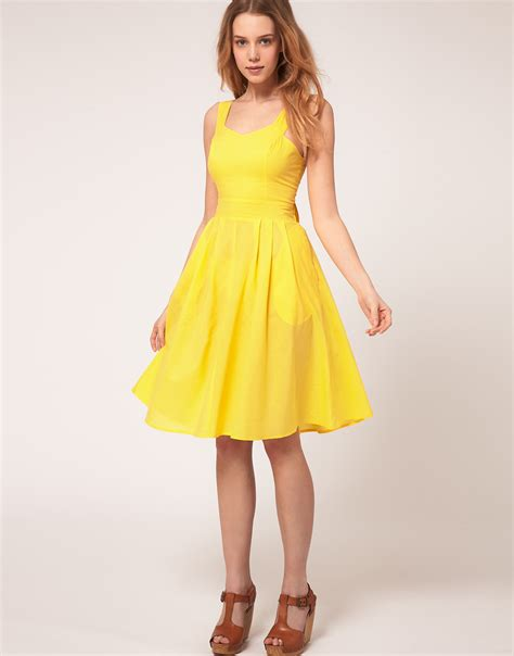 Ylw Dress asos collection asos midi dress with tie back in