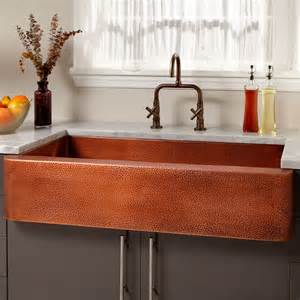 Copper Farm Sinks For Kitchens 42 Quot Fiona Hammered Copper Farmhouse Sink Kitchen
