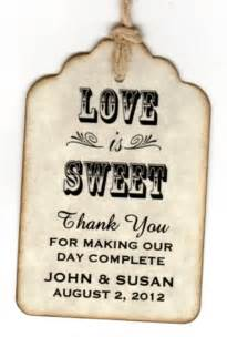 wedding favor cards wedding favour gift tags 50s wedding and is sweet on